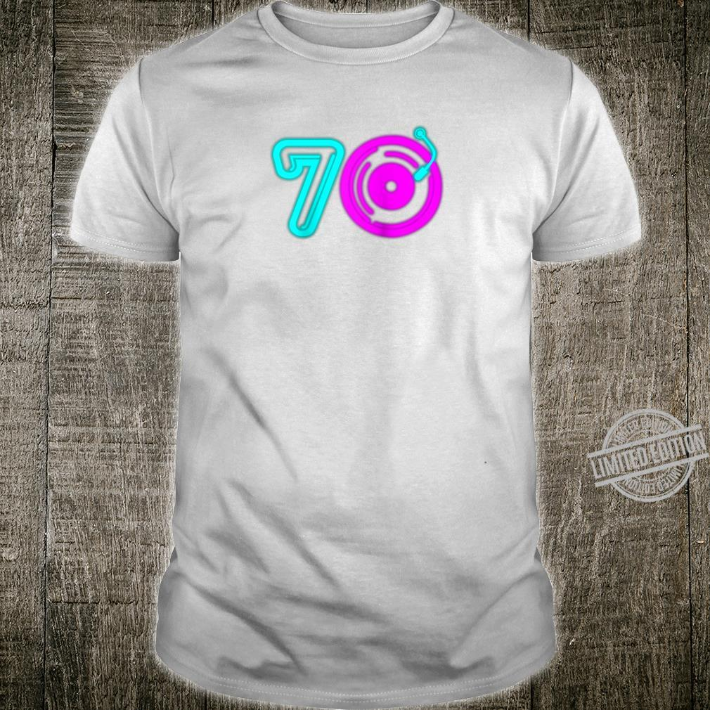 Retro 70's Party Vintage Vinyl Record Music Player Aging Shirt