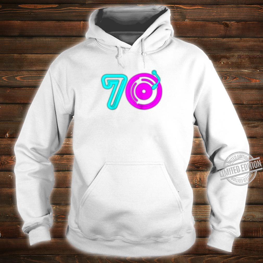 Retro 70's Party Vintage Vinyl Record Music Player Aging Shirt hoodie