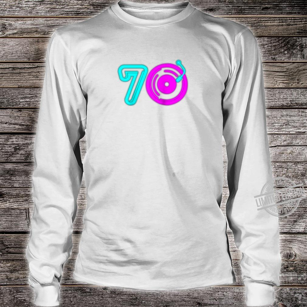 Retro 70's Party Vintage Vinyl Record Music Player Aging Shirt long sleeved