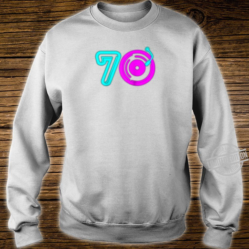Retro 70's Party Vintage Vinyl Record Music Player Aging Shirt sweater