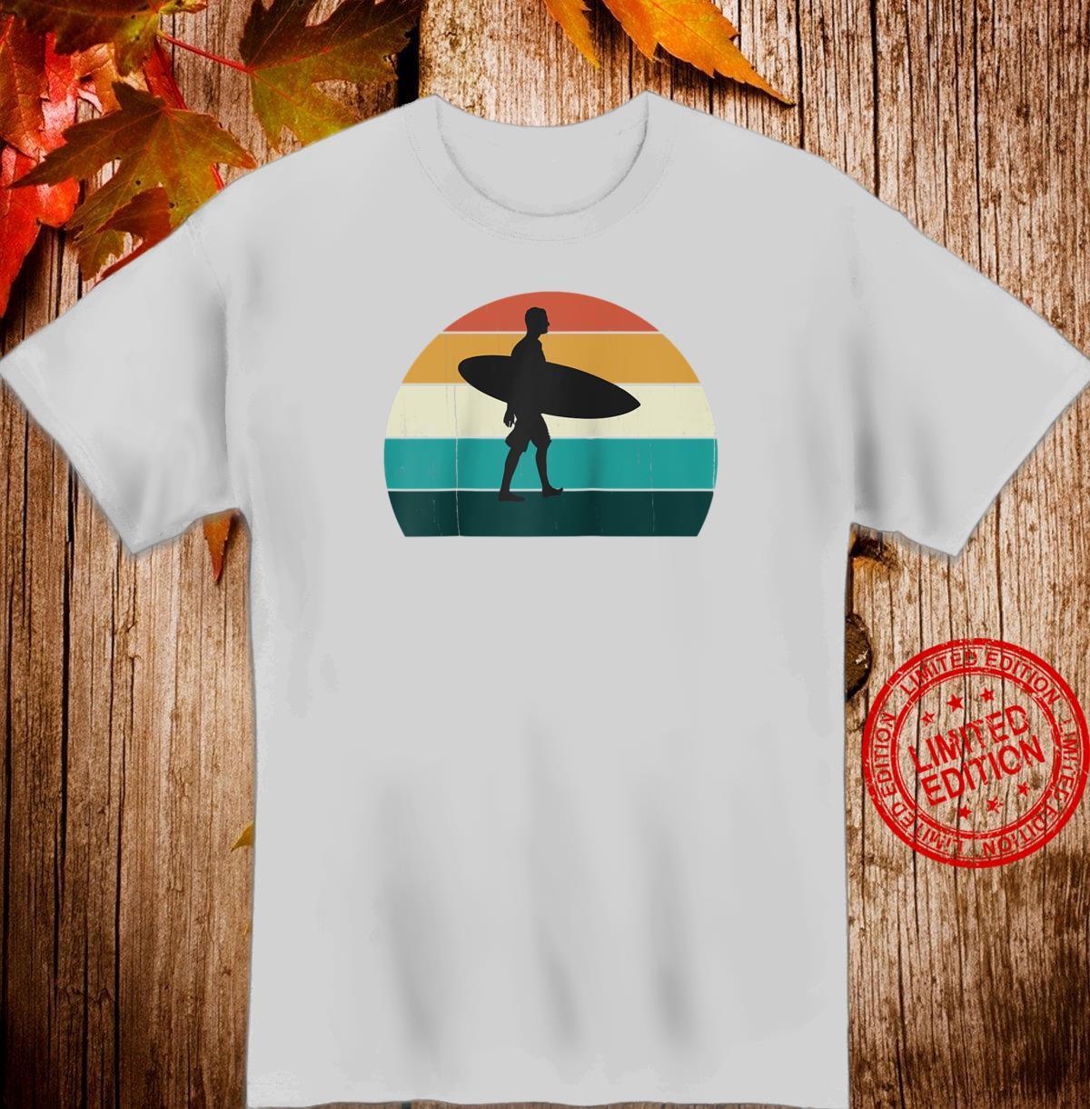 Retro Sunset Surfer Vintage Surfing Beach Sun & Surf Shirt