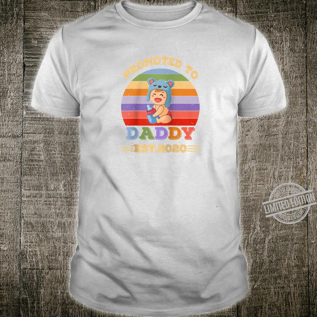 Retro Vintage New Dad Tee Promoted to Daddy est 2020 Shirt