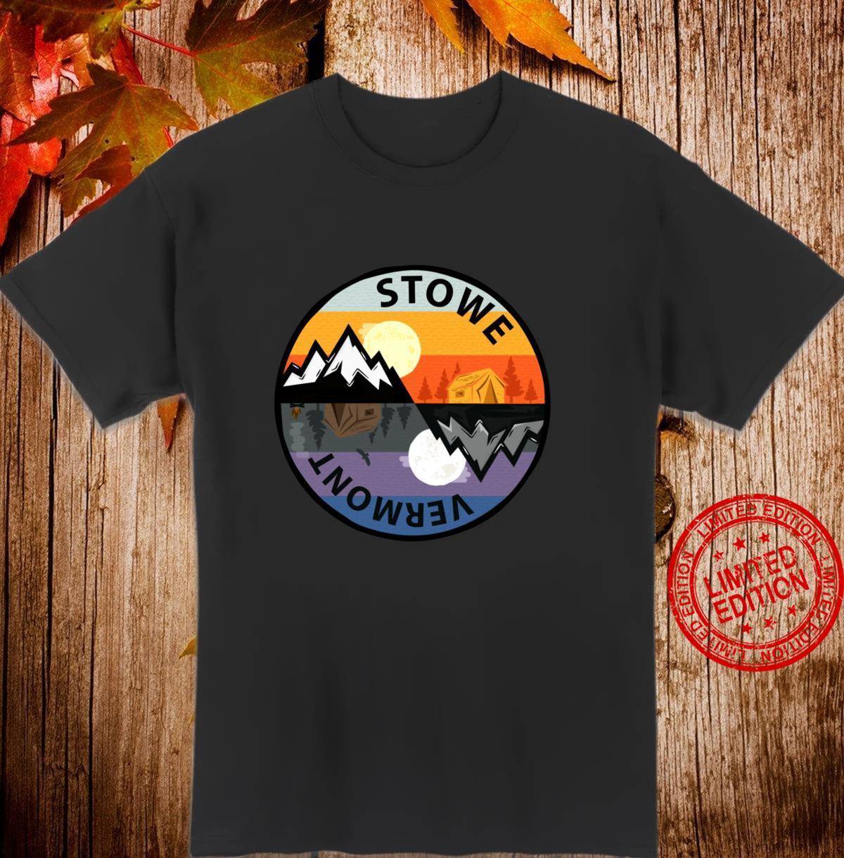 Retro Vintage Stowe, Vermont Souvenir Camping Shirt