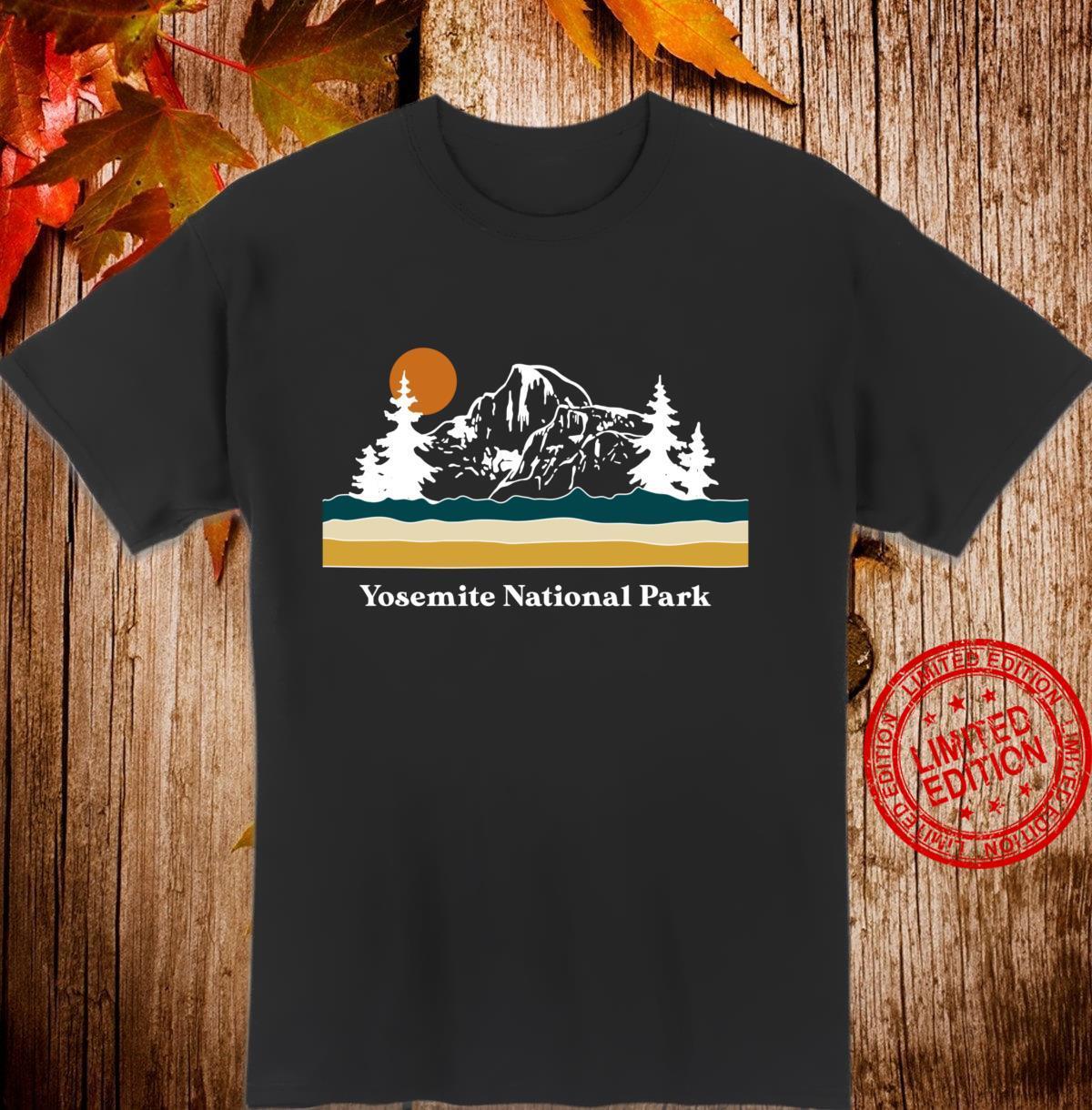 Retro Vintage Yosemite National Park Half Dome Stripes Shirt
