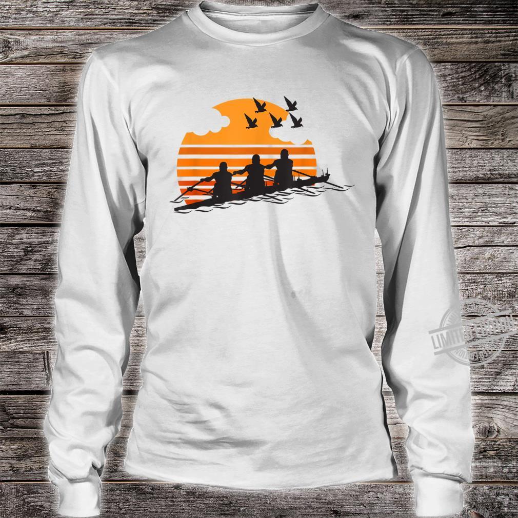 Rowing Team Sunset Lake Cute Crew Sport Shirt long sleeved