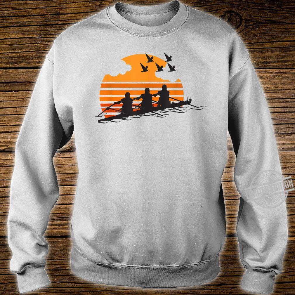 Rowing Team Sunset Lake Cute Crew Sport Shirt sweater