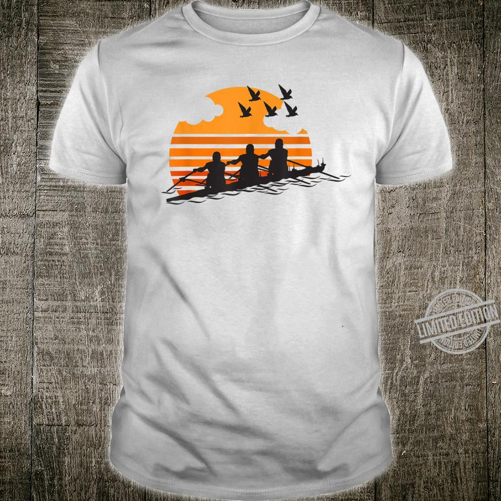 Rowing Team Sunset Lake Cute Crew Sport Shirt