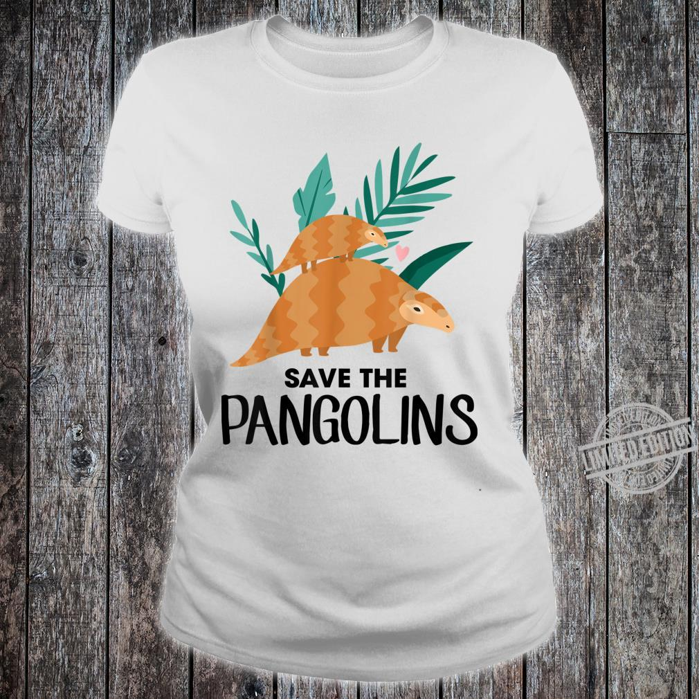 Save The Pangolins Pangolin Shirt ladies tee