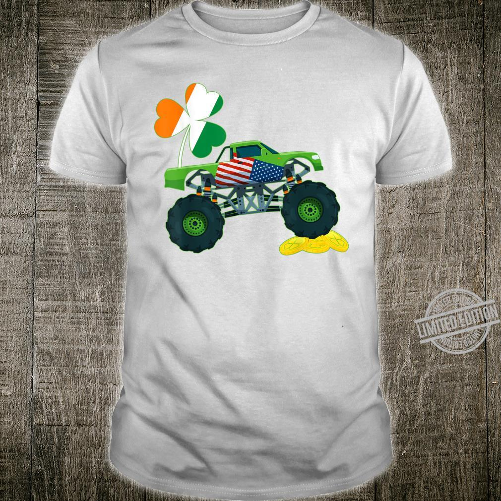 Shamrock Lucky Leprechaun St. Patrick's Day Monster Truck Shirt
