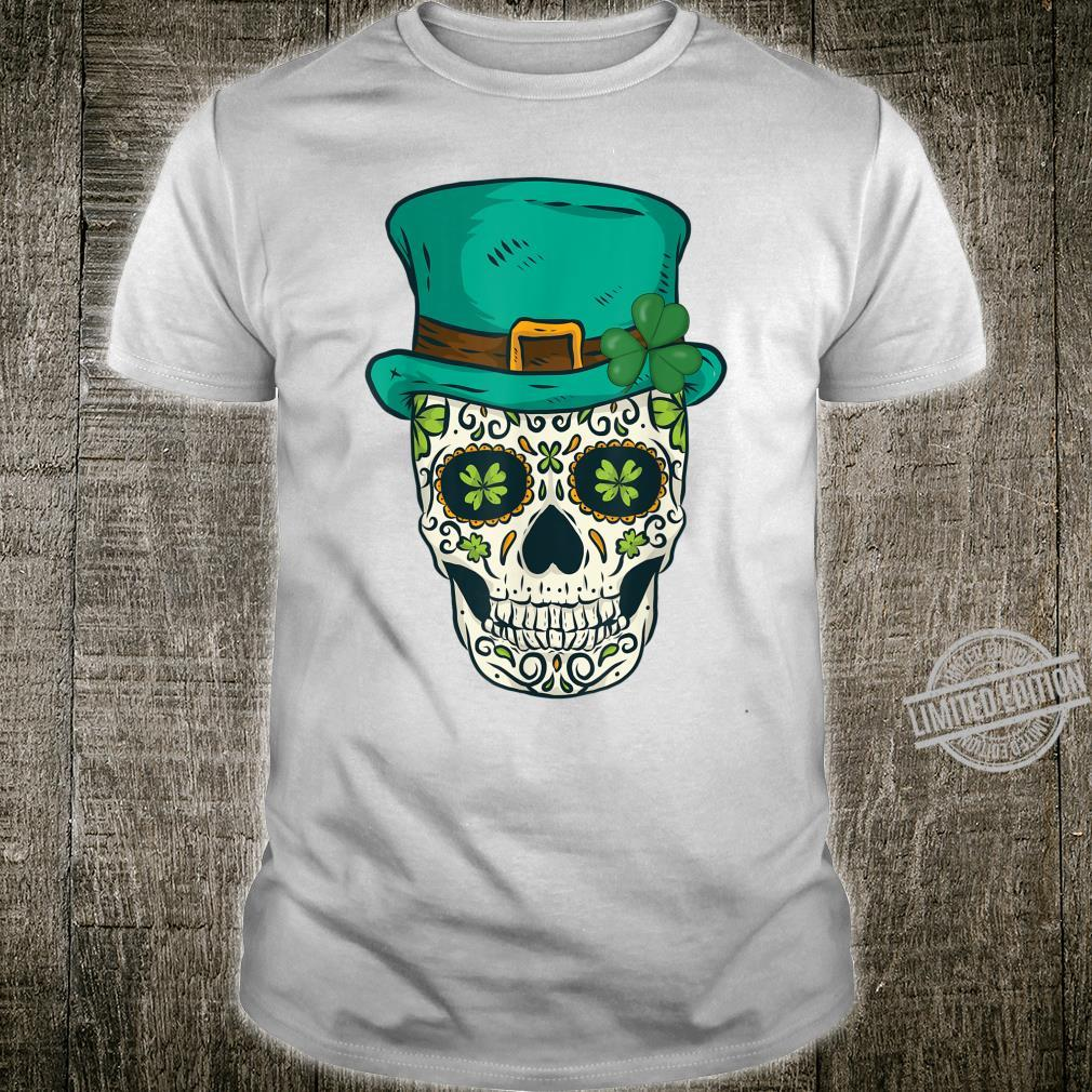 St Patricks Day Sugar Skull Day Of The Dead Leprechaun Shirt