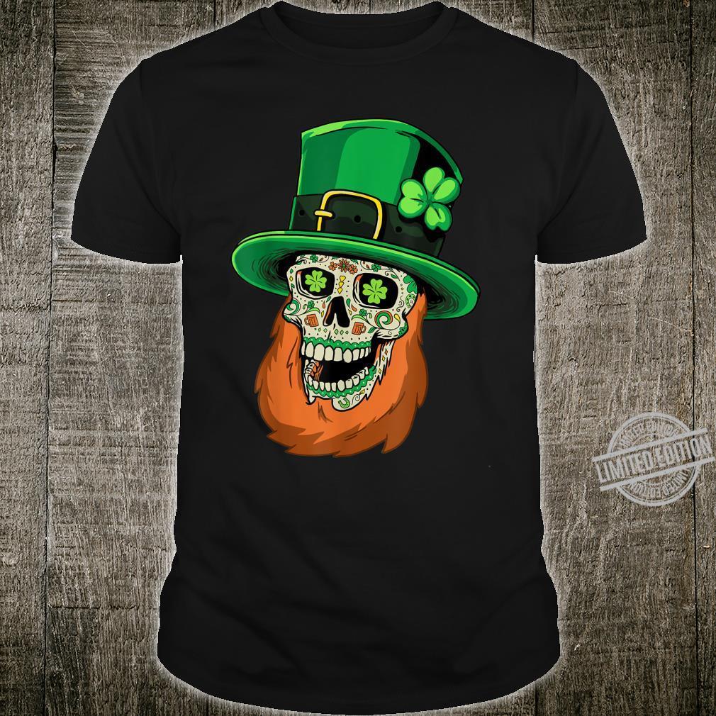 Sugar Skull Leprechaun St Patricks Day of Dead Shamrock Shirt