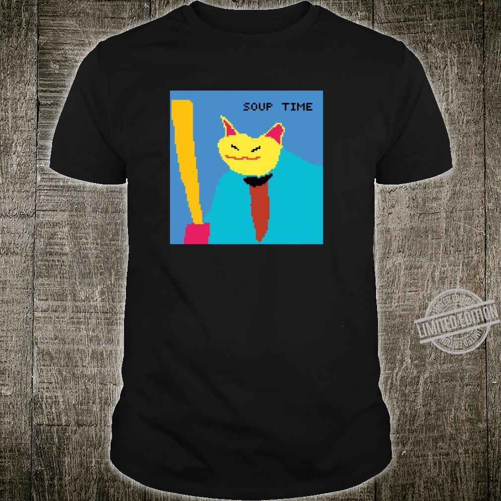 Suppenzeit Meme Cat Pixel Art Shirt