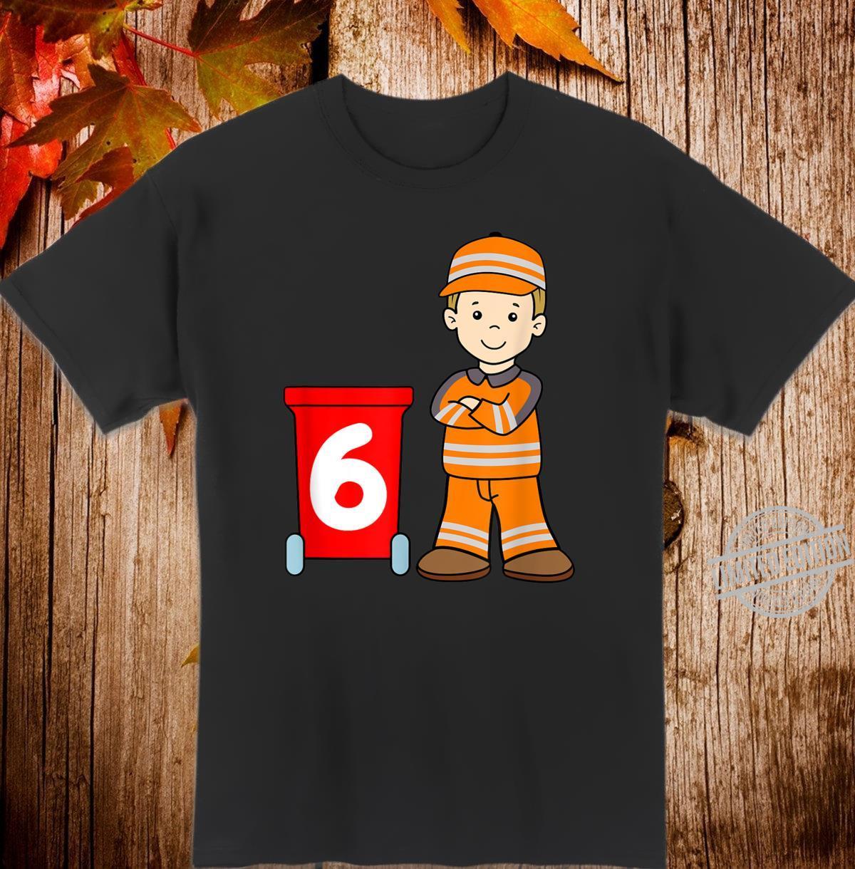 TShirt Müllmann 6 Jahre Jungs Geschenk Shirt
