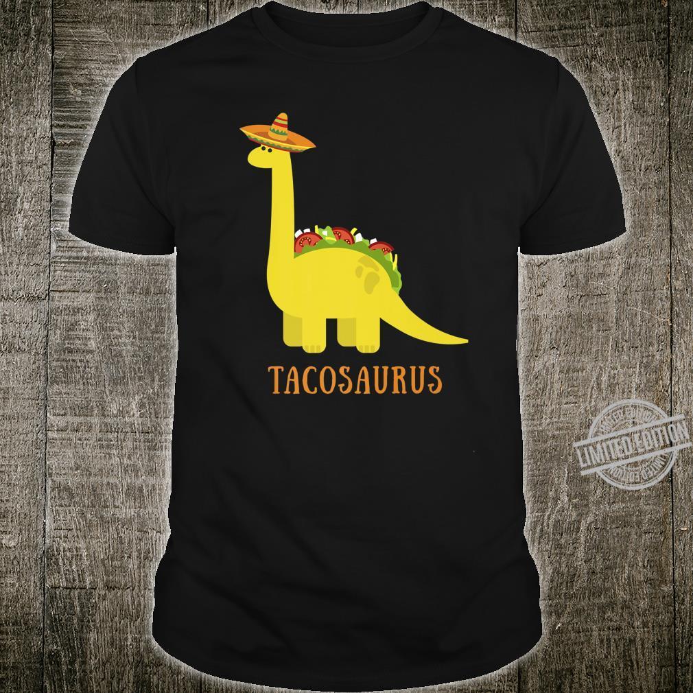 Tacosaurus Taco Cinco de Mayo Dinosaur Sombrero Shirt