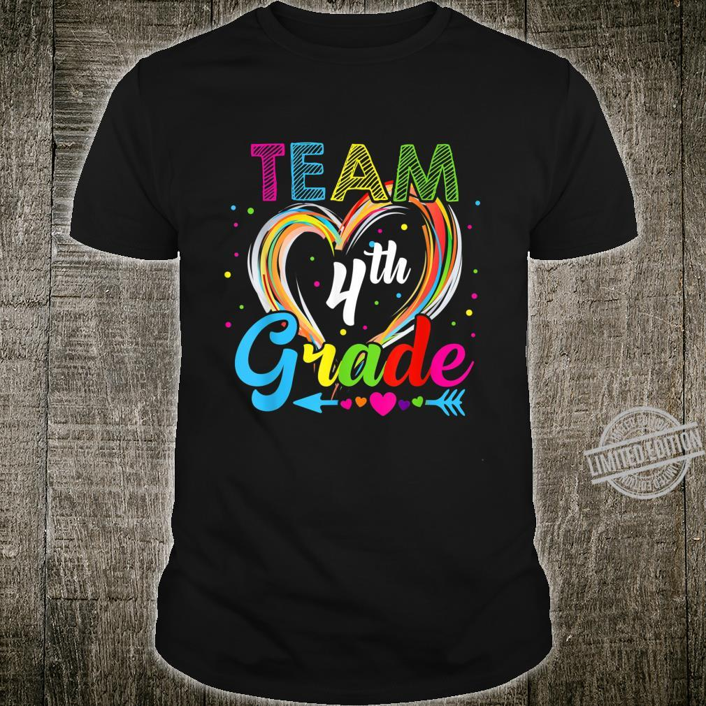 Team 4Th Grade Happy First Day Of School Shirt