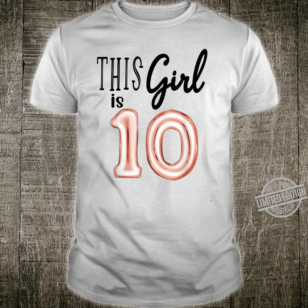 Ten Birthday Double Digits 10th Bday Tenth Outfit Shirt