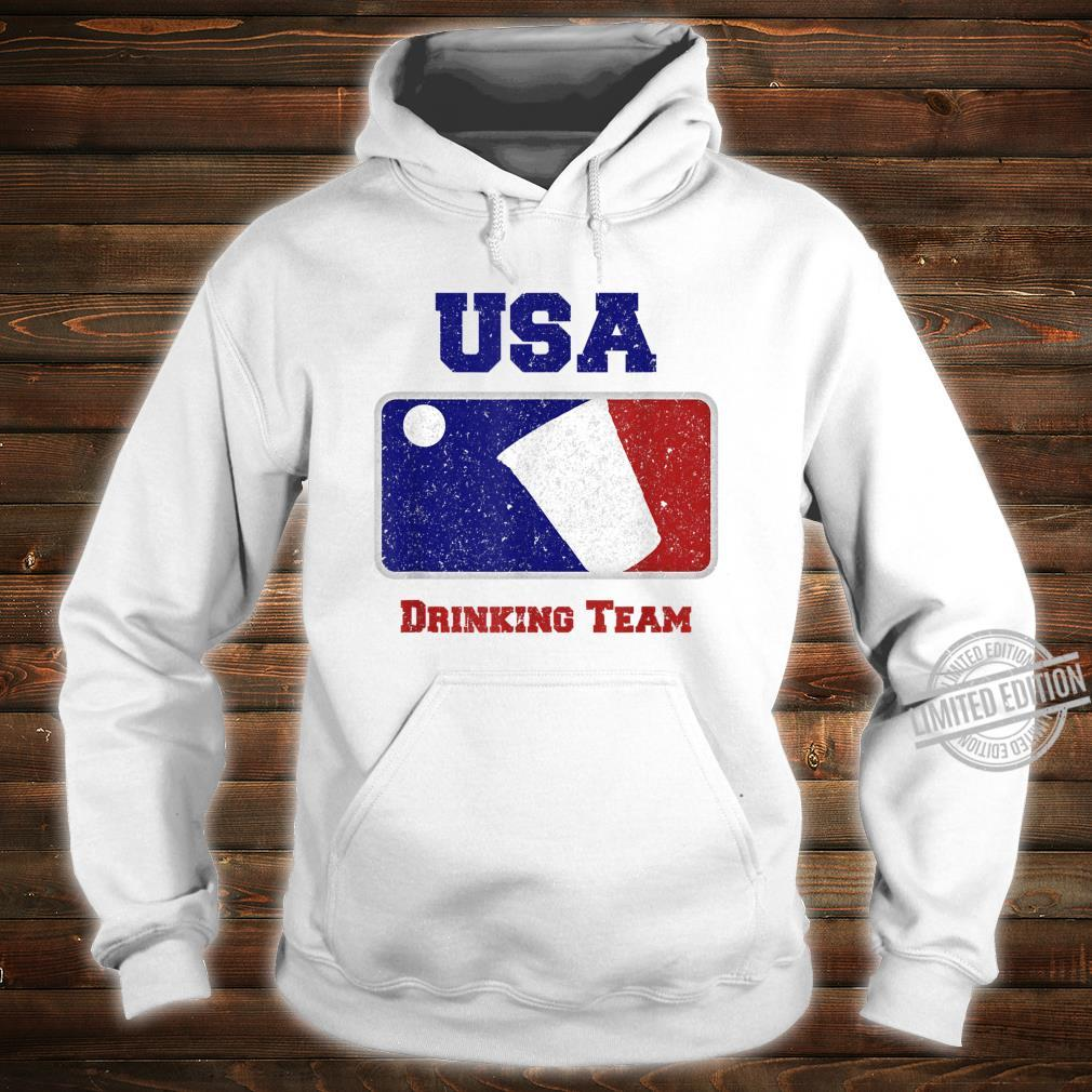 USA Drinking Team Party Beer Pong Game Distressed Retro Shirt hoodie
