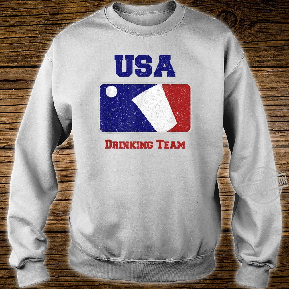 USA Drinking Team Party Beer Pong Game Distressed Retro Shirt sweater
