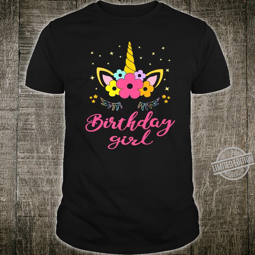 Unicorn Birthday Girl Shirt Birthday Present For Girl Shirt