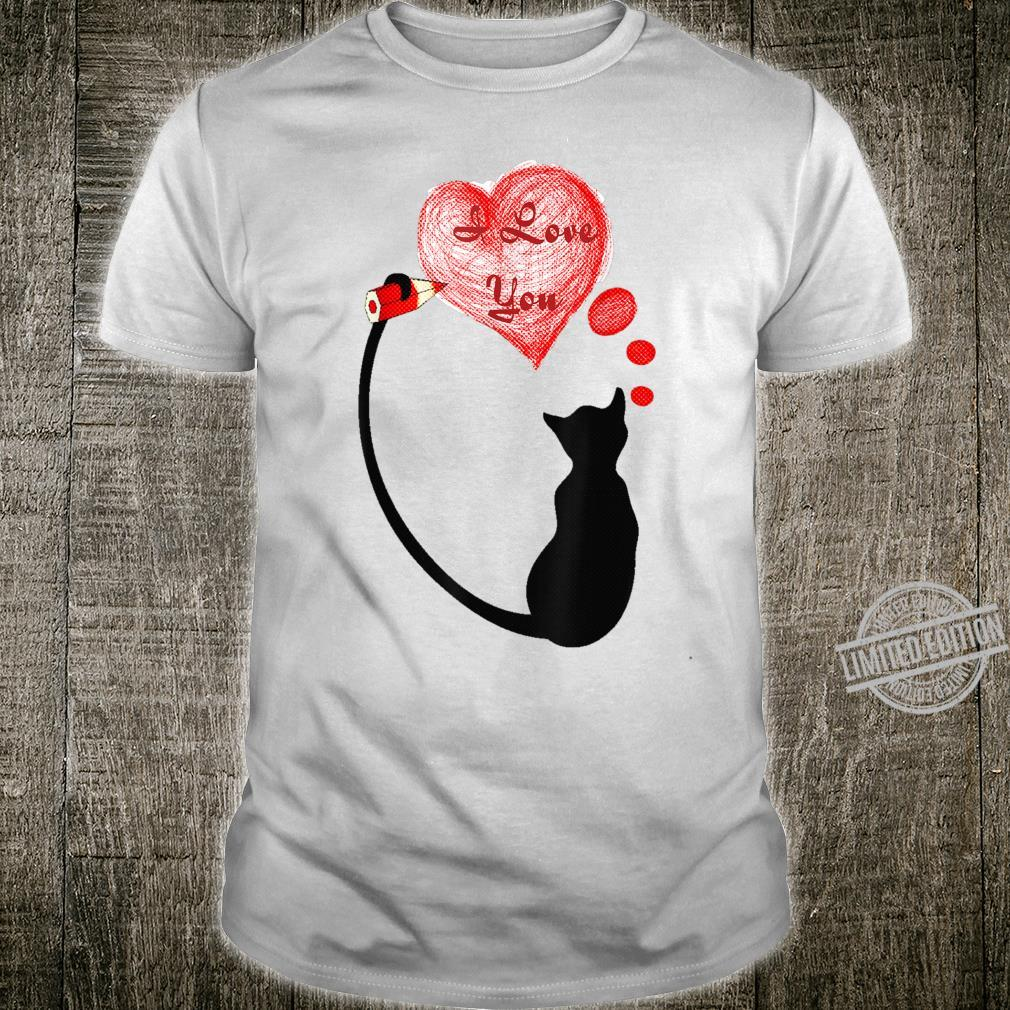 Valentine Day 2020 Fun Cat Love I Love You Cute Lovely Shirt