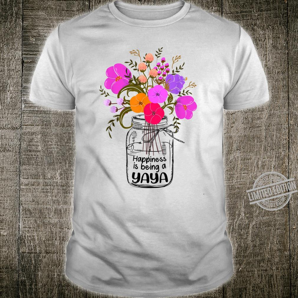 Women Mom Grandma Floral HappinessIsBeingAYaya Shirt