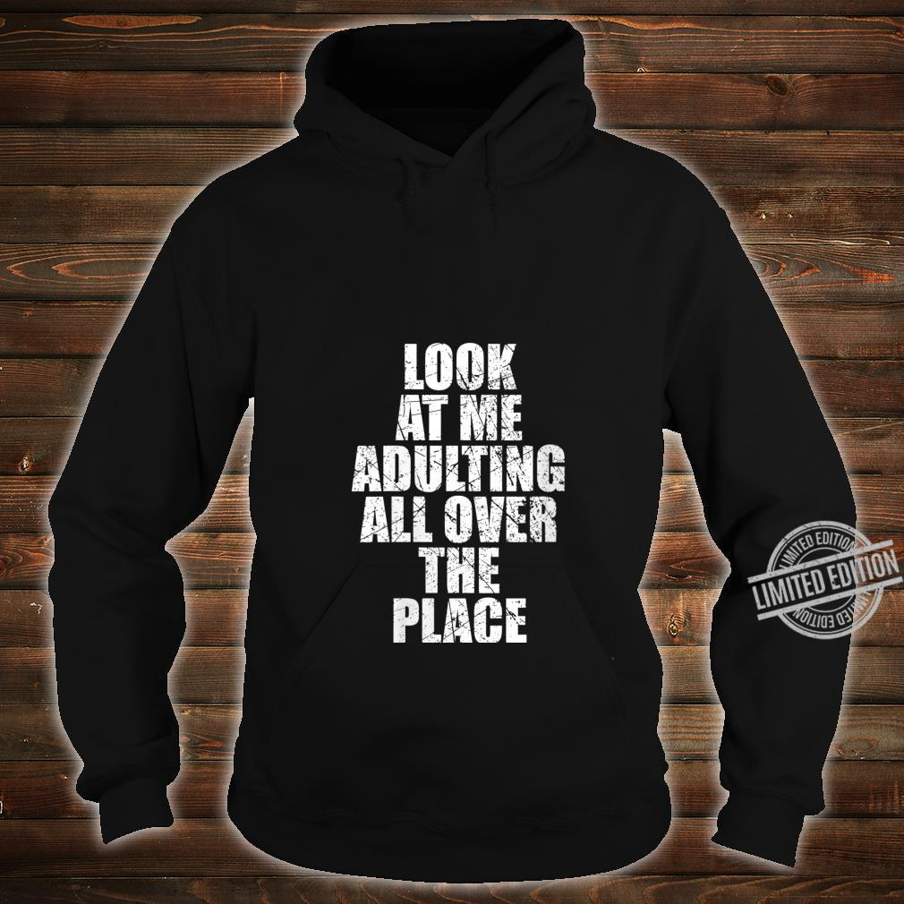 Womens Adultish Design and Adulting Shirt hoodie