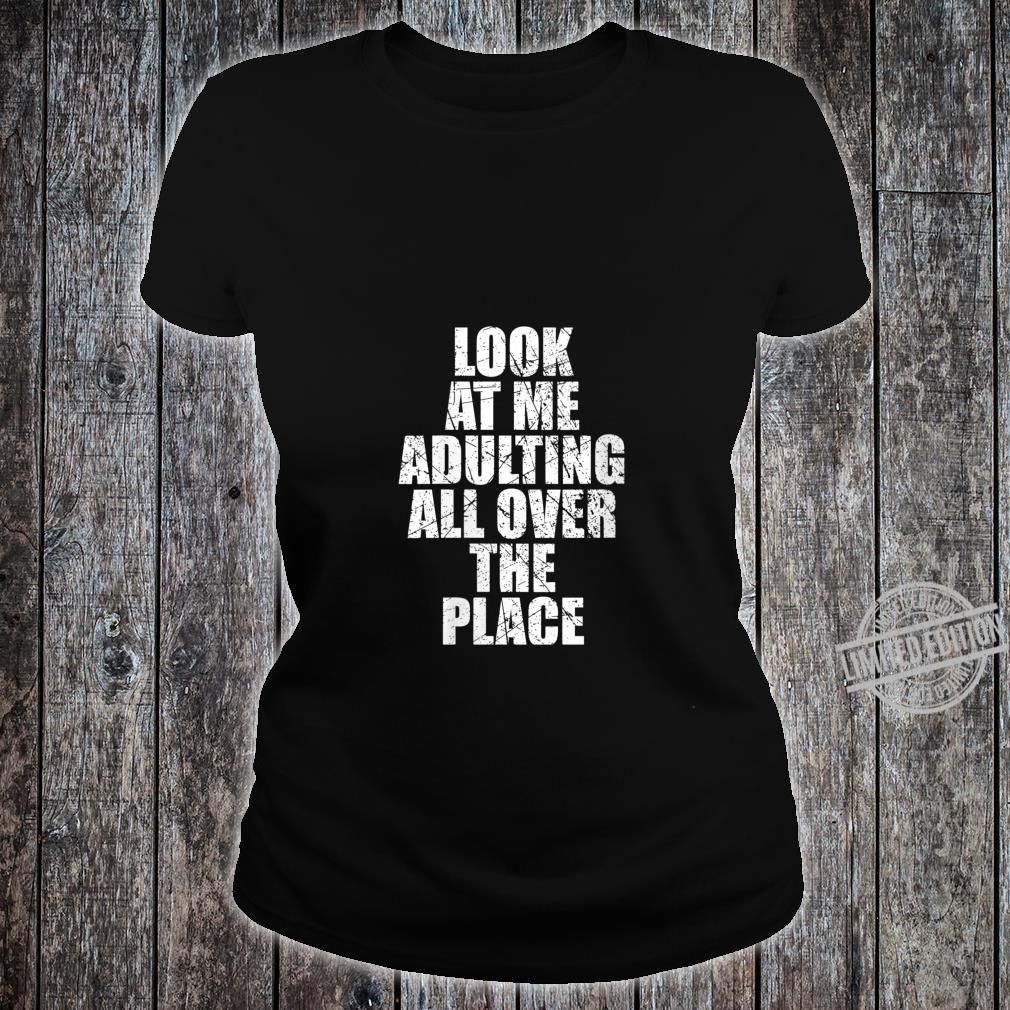 Womens Adultish Design and Adulting Shirt ladies tee