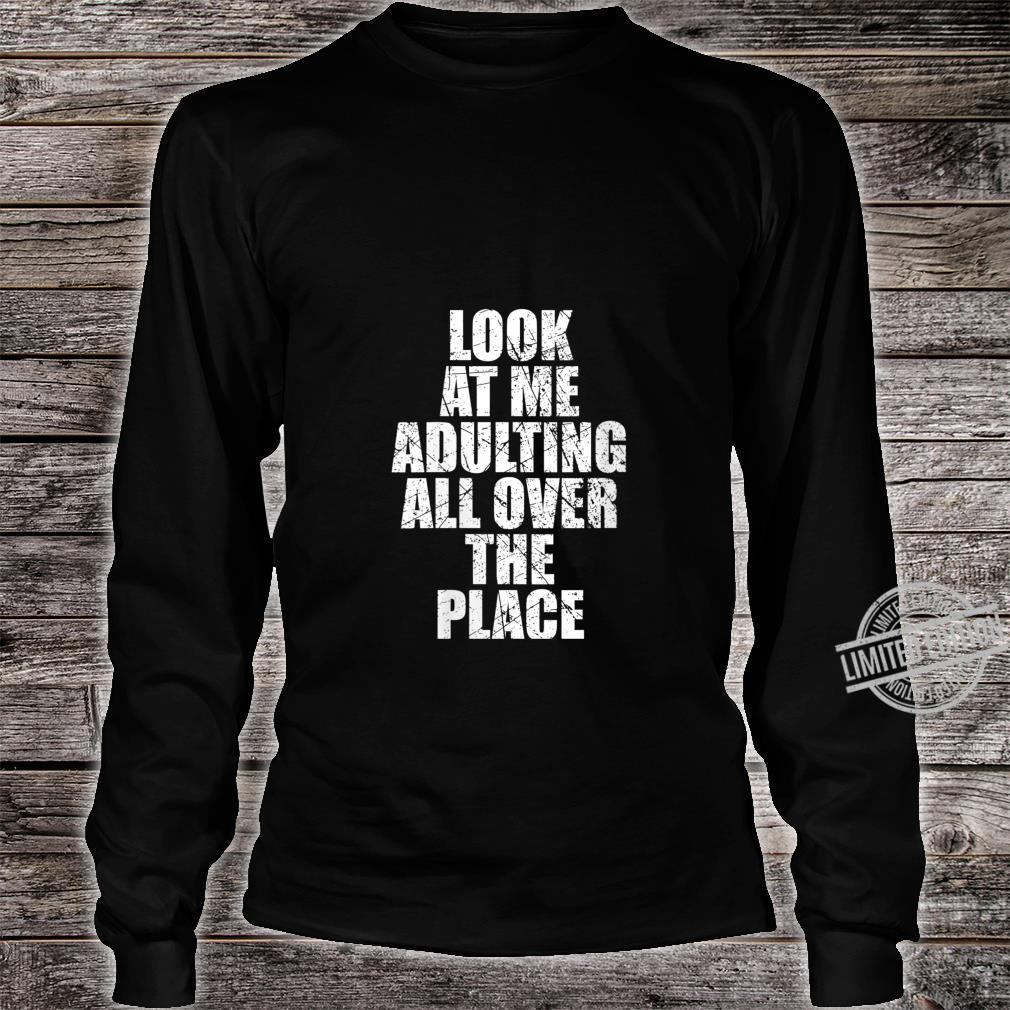Womens Adultish Design and Adulting Shirt long sleeved