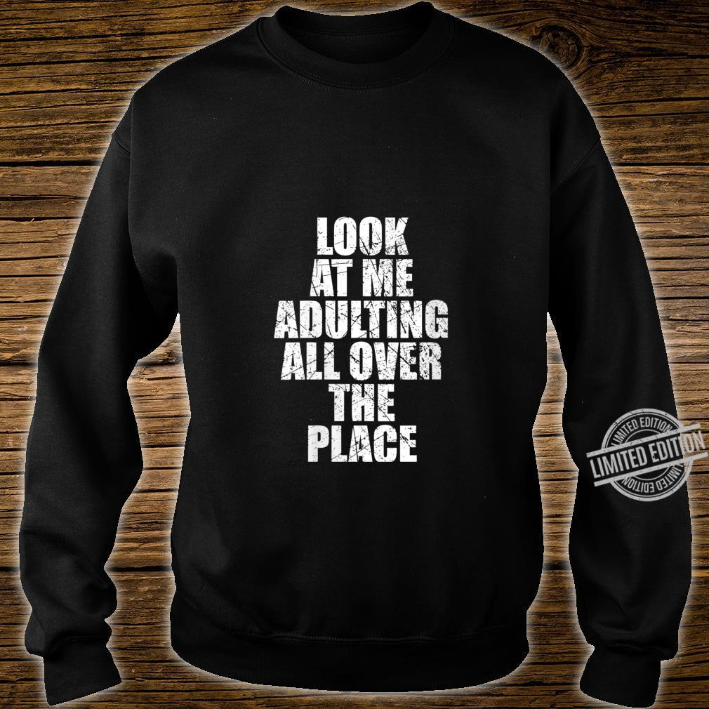 Womens Adultish Design and Adulting Shirt sweater