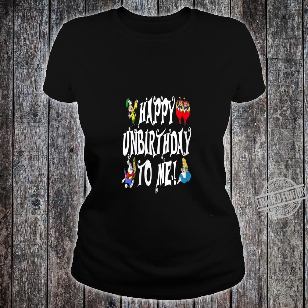 Womens Alice In Wonderland Happy Unbirthday Tea Party Fans Shirt ladies tee