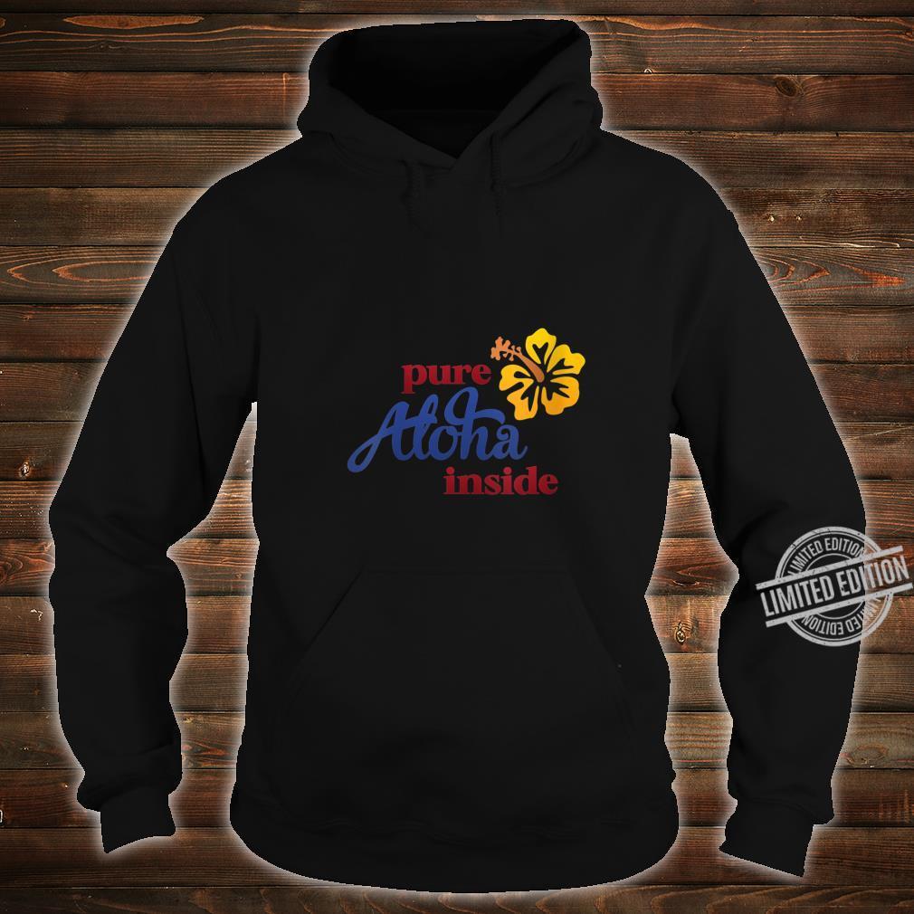 Womens Aloha Hibiscus Flower On Front Arizona State Flag On Back Shirt hoodie