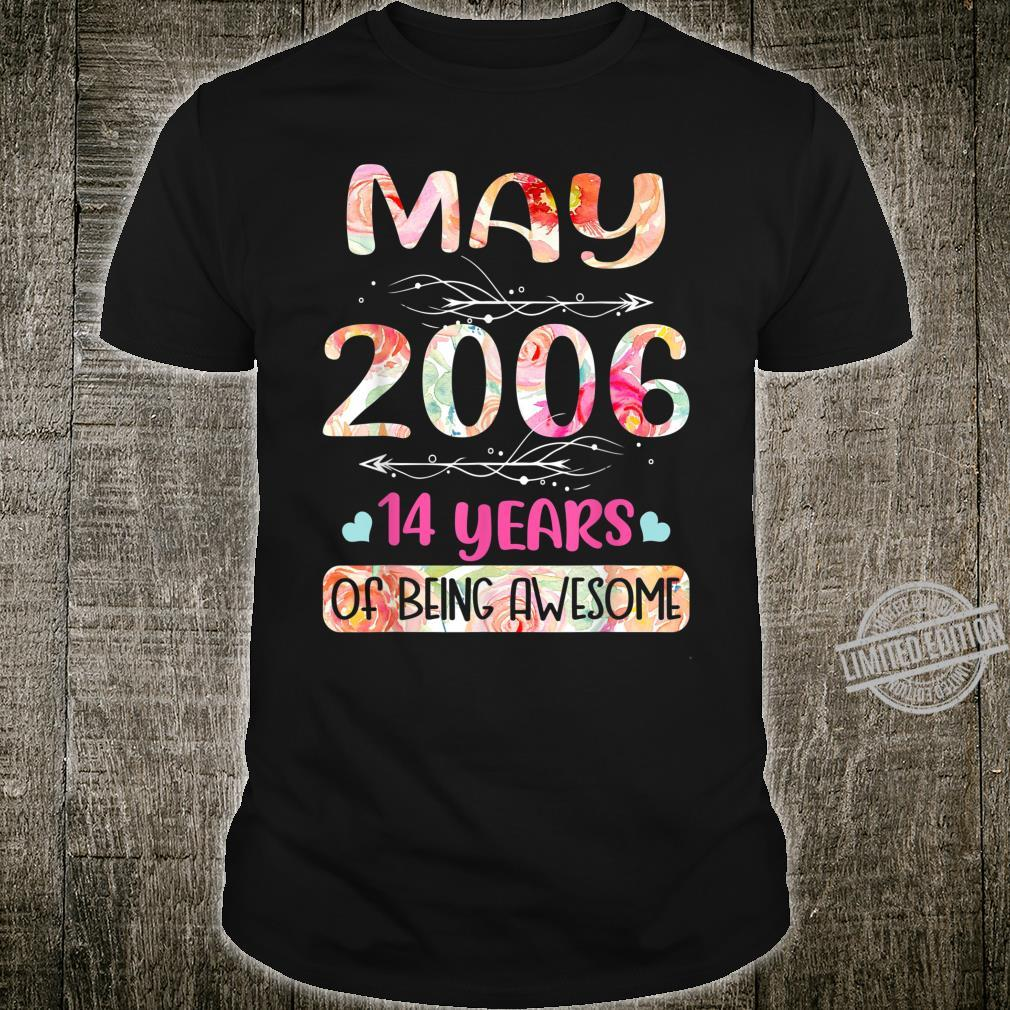 Womens May 2006 Birthday Floral for Girls Shirt
